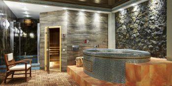 Баня внутри частного дома